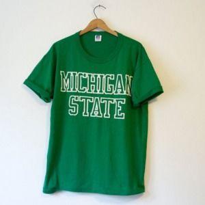 Vintage Michigan State Spartans T Shirt